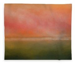 Fleece Blanket featuring the photograph The Great Beyond - Georgian Bay by Andrea Kollo