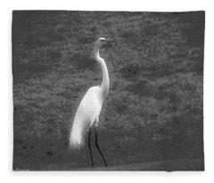 The Great Egret Fleece Blanket