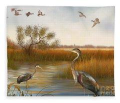 The Great Marsh-jp2860 Fleece Blanket