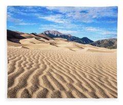 The Great Sand Dunes Of Colorado Fleece Blanket