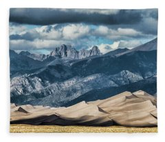 The Great Sand Dunes Panorama Fleece Blanket