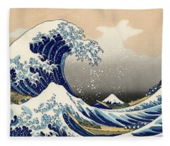 The Great Wave Off Kanagawa Fleece Blanket
