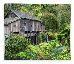 The Grist Mill, Amboy Washington Fleece Blanket