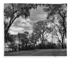 The Grounds Of Fort Caroline National Memorial Fleece Blanket