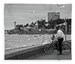 The Gull Man Fleece Blanket