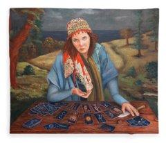 The Gypsy Fortune Teller Fleece Blanket