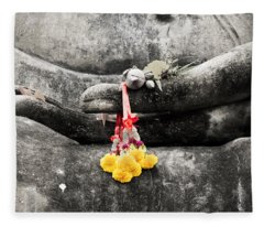 The Hand Of Buddha Fleece Blanket