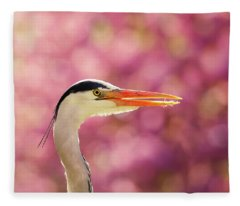 The Happy Heron Fleece Blanket