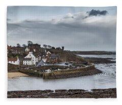 The Harbour Of Crail Fleece Blanket