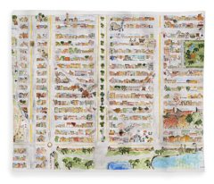 The Harlem Map Fleece Blanket