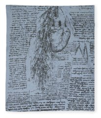 The Heart And The Bronchial Arteries Fleece Blanket
