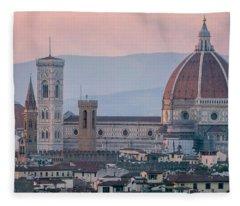 The Heart Of Florence Italy Fleece Blanket