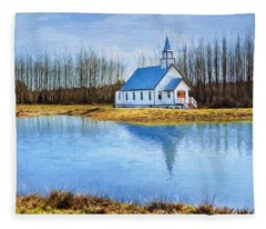 The Heart Of It All - Landscape Art Fleece Blanket