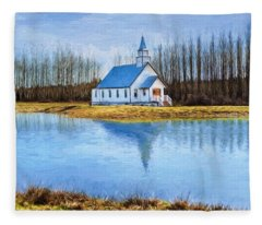 The Heart Of It All - Landscape Art Fleece Blanket