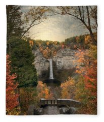 The Heart Of Taughannock Fleece Blanket