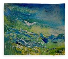 The Heavens And The Eart Fleece Blanket