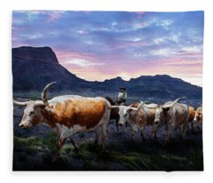 Texas Longhorns Blue Fleece Blanket