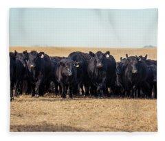The Herd Rushes In Fleece Blanket