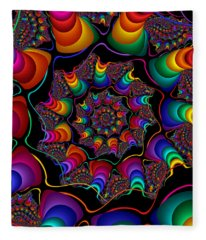 Helicoids Fleece Blanket