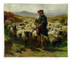 The Highland Shepherd Fleece Blanket