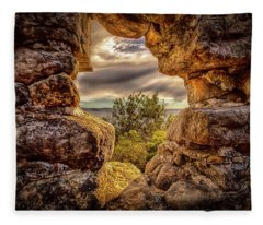 Fleece Blanket featuring the photograph The Hole In The Wall by Chris Cousins