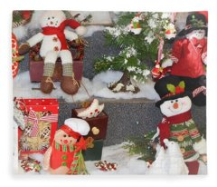 The Holiday Snowman Party Fleece Blanket