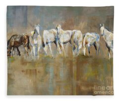 The Horizon Line Fleece Blanket