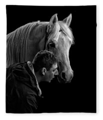 The Horse Whisperer Extraordinaire Fleece Blanket