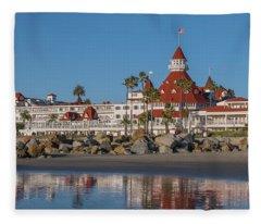 The Hotel Del Coronado Fleece Blanket