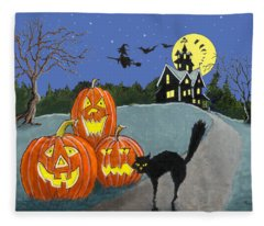 The House On Cemetery Hill Fleece Blanket