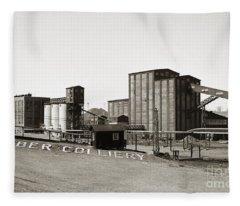 The Huber Colliery Ashley Pennsylvania 1953 Fleece Blanket