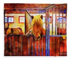 The Iceland Horse 1 Of Hester-stables  Fleece Blanket