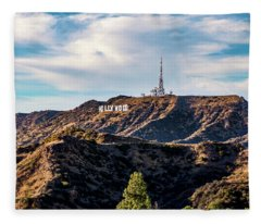 The Iconic Hollywood Sign Fleece Blanket