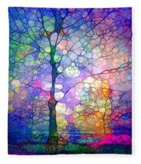 The Imagination Of Trees Fleece Blanket