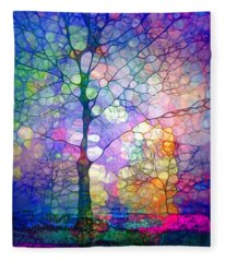 The Imagination Of Trees Fleece Blanket
