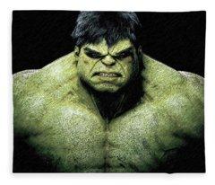 The Incredible Hulk Pencil Sketch  Fleece Blanket
