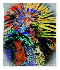 The Indian At Dolores Hidalgo Fleece Blanket