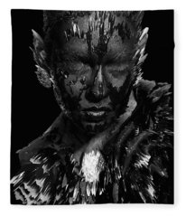 The Inner Demons Coming Out Fleece Blanket