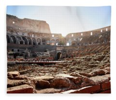The Interior Of The Roman Coliseum Fleece Blanket