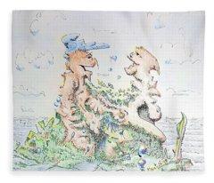 The Interrogation Fleece Blanket