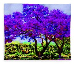 The Jacaranda Fleece Blanket