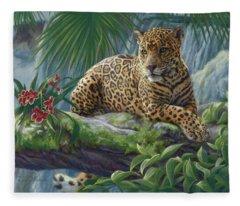 The Jaguar Fleece Blanket