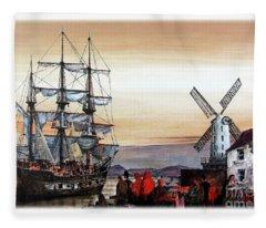 The Jeanie Johnson Famine Ship, Blennerhasset, Kerry. Fleece Blanket