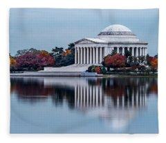 The Jefferson In Baby Blue Fleece Blanket