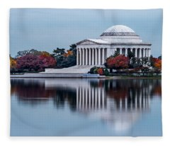 The Jefferson In Baby Blue Fleece Blanket