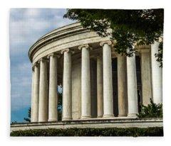 The Jefferson Memorial Fleece Blanket