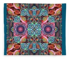 The Joy Of Design Mandala Series Puzzle 7 Arrangement 1 Fleece Blanket