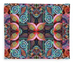 The Joy Of Design Mandala Series Puzzle 7 Arrangement 2 Fleece Blanket
