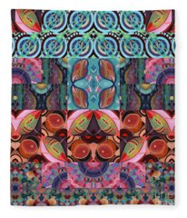 The Joy Of Design Mandala Series Puzzle 7 Arrangement 3 Fleece Blanket