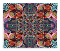 The Joy Of Design Mandala Series Puzzle 7 Arrangement 4 Fleece Blanket
